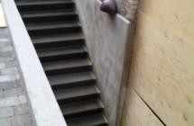 Udstøbning af ny trappe
